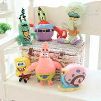 Cute SpongeBob Patrick Star & Squidward Tentacles & Eugene & Sheldon & Gary Plush Toys Stuffed Lovely Dolls for Kids Girls Gifts