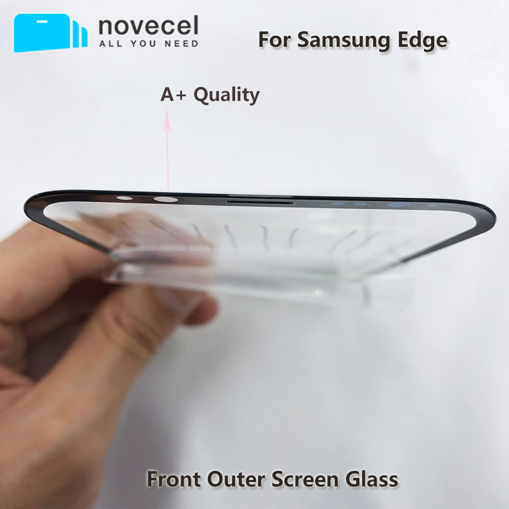 LCD Touch Front Outer Screen Glass with Oleophobic Coating for Samsung Galaxy S8 S9 Plus S10+ S20 S20+ Ultra Cellphone Parts