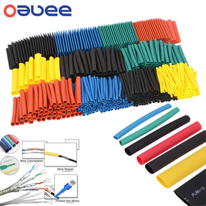 Oauee Polyolefin Shrinking Assorted Heat Shrink Tube Wire Cable Insulated Sleeving Tubing 164pcs/328pcs/530pcs/set Dropshipping