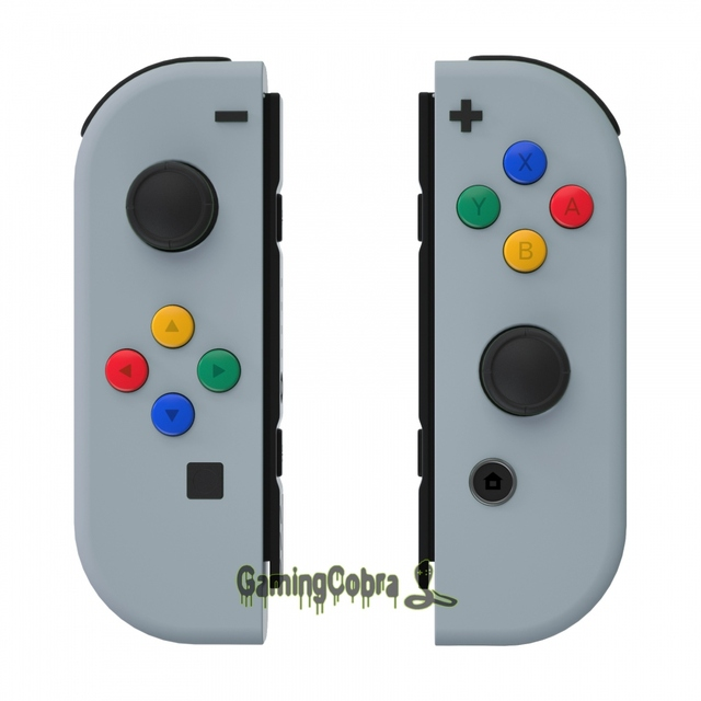 New Hope Gray Soft Touch Controller Housing With Colorful Buttons Replacement Shell with Tools for NS Switch Joy Con