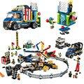 15014 legoinglys creador de la serie Feria de Parque de Atracciones parque infantil paraíso edificio bloque 1858 Uds ladrillos de juguete de regalo de 10244