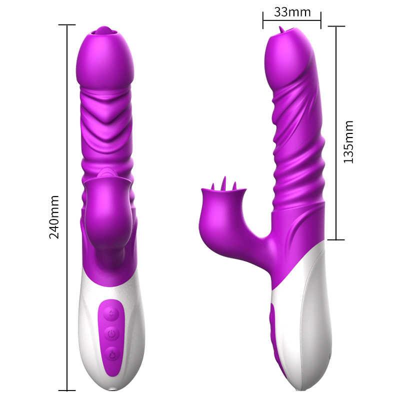 キツネ大人のおもちゃ g スポットディルドデュアル振動前立腺マッサージ男性シリコーンバイブレーターロング舌バイブレーターなめる