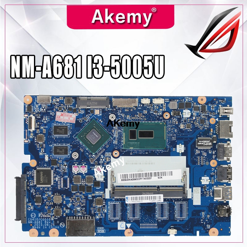 Free shipping new 5B20K25385 for Lenovo 100-15IBD CG410/CG510 NM-A681 Laptop Motherboard with <font><b>SR27G</b></font> I3-5005U CPU 920M 1GB GPU image