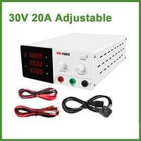 220V DC Laboratory 30V 20A Regulated Lab Power Supply Adjustable 0 20A 0 30V Voltage Regulator Stabilizer Switching Bench Source