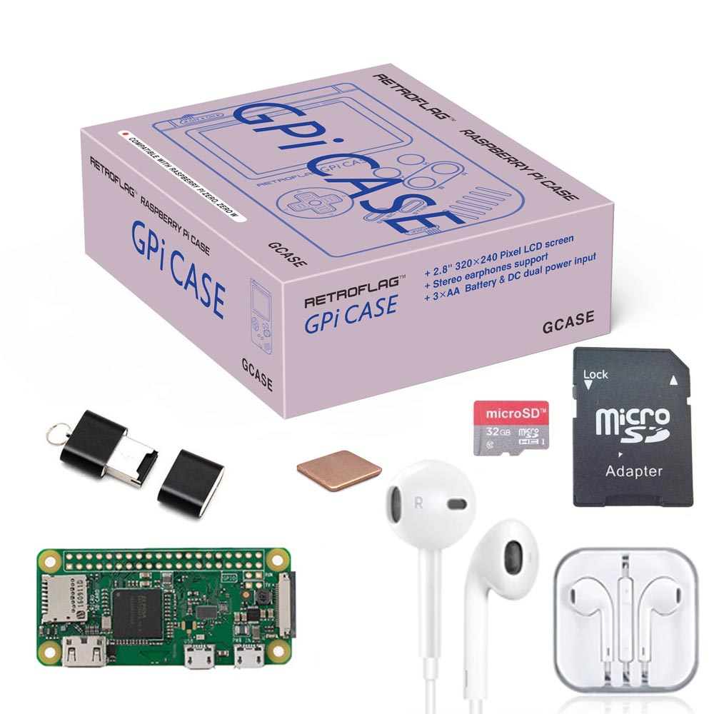 Original Retroflag GPi CASE Kit With 32G Micro SD Card  For Raspberry Pi Zero / Zero W