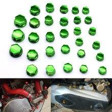 30 шт./компл. крышка гайки для мотоцикла крышка гайка украшение болт хромированный пластик для Honda CBR250R VTR1000F Yamaha FZ6 FZ1 R6