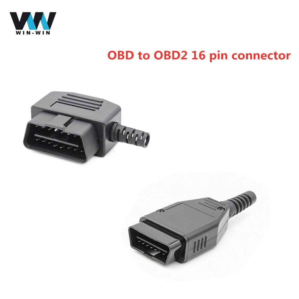 Universal OBD to OBD2 16 Pin Connector OBD II OBDII 16 Pin Male Adapter support obd obd2 standard protocols Plug J1962 Connector