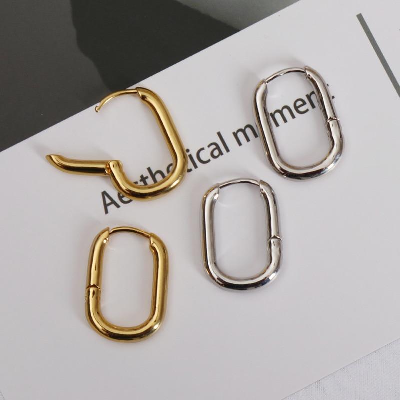 Vintage Gold Small Circle Hoop Earrings for Women Geometric Handmade Earrings Bride Girl Party Wedding Jewelry Gift