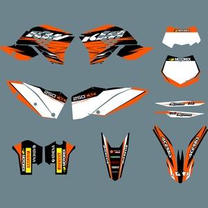Image 1 - SX EXC 2008 2009 2010 데칼 스티커 KTM 125 200 250 300 350 450 525 SX F SXF SX 2007 2010 XC F XCF EXC EXC F EXCF 2008 2011