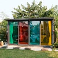 HOHOFILM Colored decorative glass window film insulation sunscreen proof membrane MULTI color window stickers 1.52x20m wholesale
