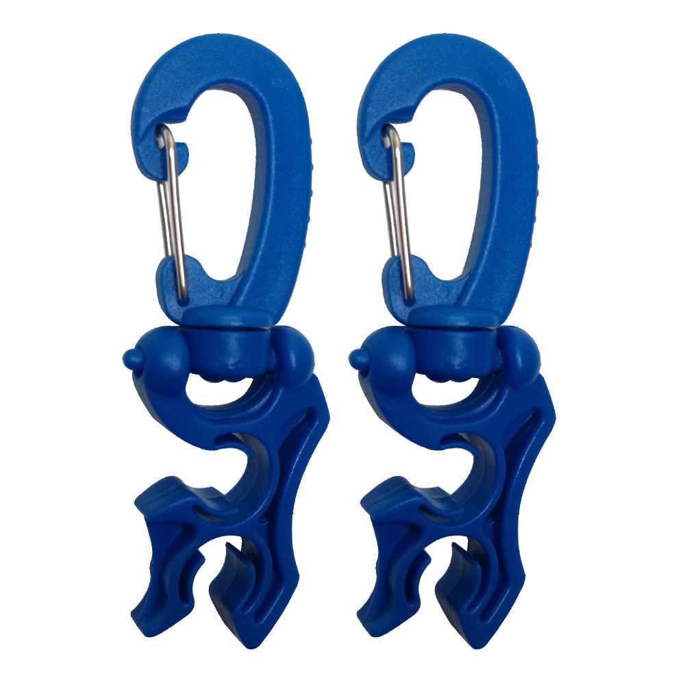 Regulator Double BCD Selang Holder dengan Klip Gesper Hook Double BCD Klip Regulator Retainer Gesper untuk Scuba Diving Snorkeling
