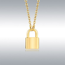 Punk Chain Stainless Steel Lock Necklace for Women Men Padlock Pendant Necklace 2020 Statement Gothic Cool Collier Femme Jewelry