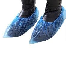100 шт Пластиковые водонепроницаемые бахилы дождливый день ковер пол одноразовые протекторы Толстая Чистящая обувь# C2