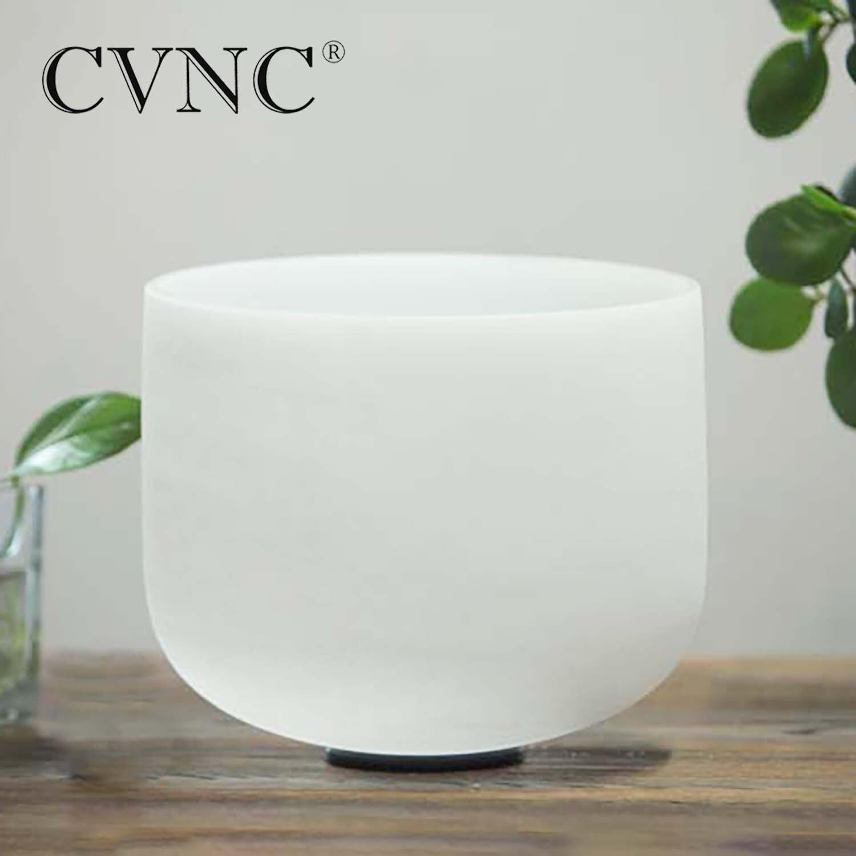 CVNC 12 Inch  Note C/D/E/F/G/A/B Chakra Frosted Quartz Crystal Singing Bowl For Meditation Yoga Healing