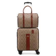 Alla moda di cuoio dellunità di elaborazione set valigia con la borsa femminile carrello dei bagagli scatola di mano di modo dei bagagli di viaggio di lusso degli uomini delle donne valise