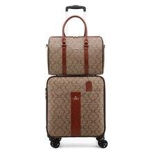 スタイリッシュな pu レザーセットスーツケースハンドバッグ女性トロリー荷物ファッションハンドボックス旅行荷物の高級女性男性小型スーツケース