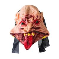 Zz0126 Halloween Red Tongue With Eyes Beads Big Mouth Grimace Mask Disgusting Horror Dress Up Funny Props