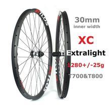 29er 30mm internal width super light 1280g 28 Hole Cross Country MTB carbon wheelset - WM-i30L-9
