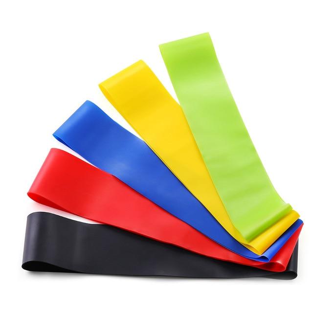 Yoga Resistance Rubber Bands Fitness Elastic Bands 0.3mm-1.1mm Training Fitness Gum Pilates Sport Crossfit Workout Equipment 5