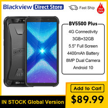 Blackview bv5500 plus ip68 impermeável 4g telefone móvel 5.5