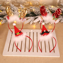 Christmas Ornaments Fluffy Antler Bell Head Buckle Headband Hair Accessories