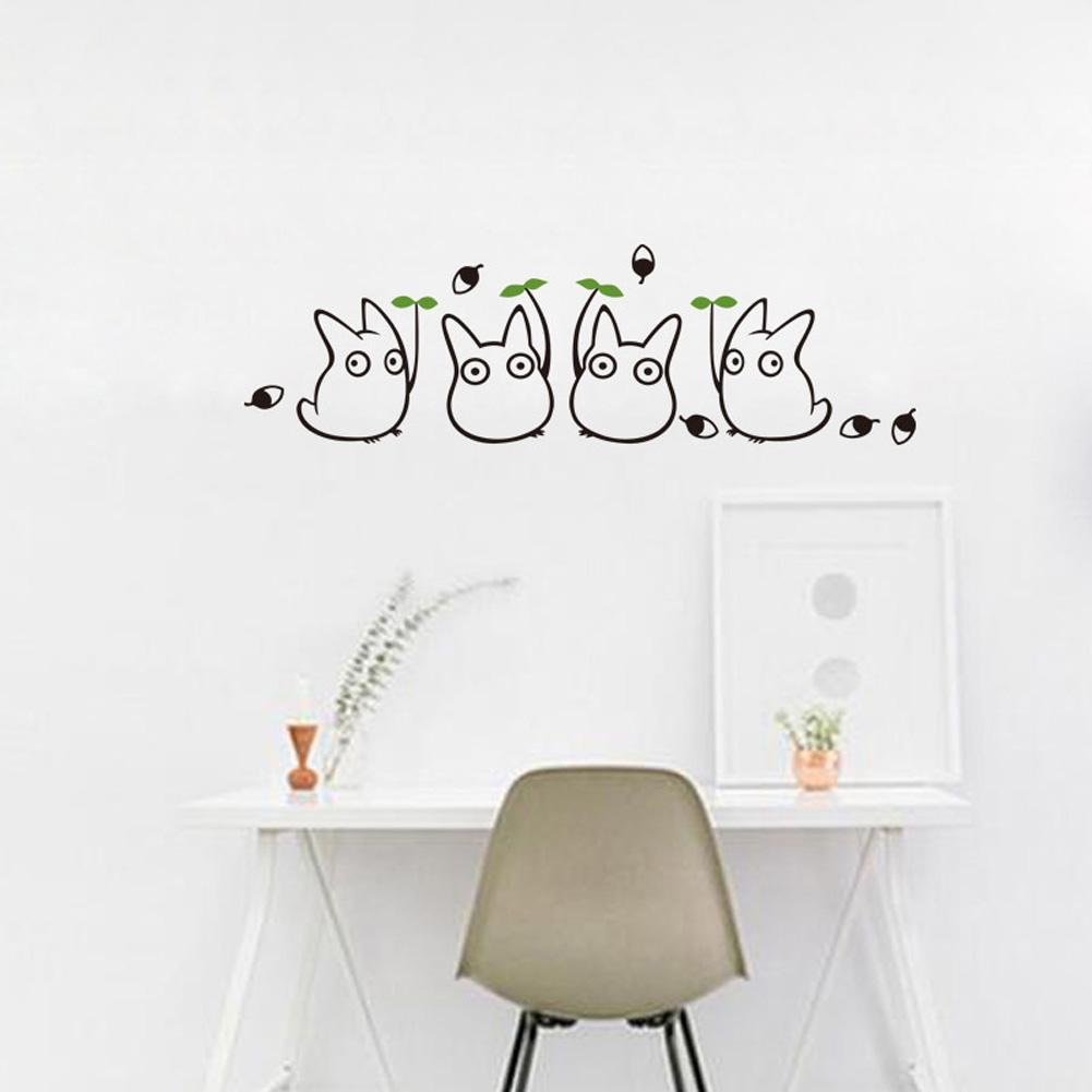 Home Decoration Wall Stickers Cartoon Totoro PVC Removeable Wall Decals Environmental Protection