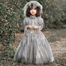 Wedding-Costume Horror Dress Scary Halloween Bride Skull-Bone Victorian Vampire Gothic