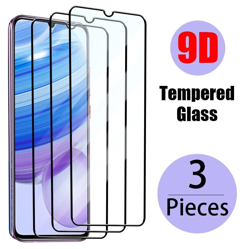 Закаленное стекло с полным покрытием для Xiaomi Redmi 9 9A 9C 9T 8A 7A 8 7 6A 6, защитная пленка для экрана Redmi Note 9 7 8 Pro 9S 8T, стекло, 3 шт.