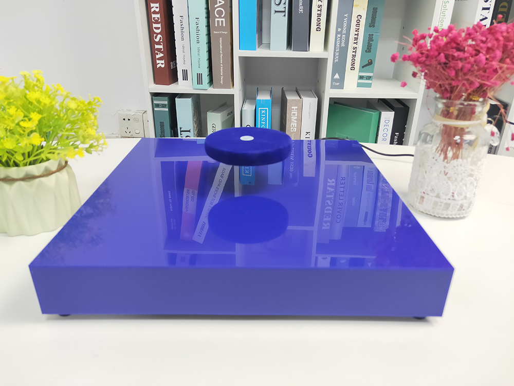 DIY Magnetic Levitation Alico Plastic  Base Floating Magnet Display Tray With Light Hold 500g Food , Drink,display Products