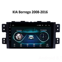 Car DVD head unit Android 8.1 9 For KIA Borrego 2013 2014 2015 GPS navigation DVD screen FM SWC multimedia video stereo support