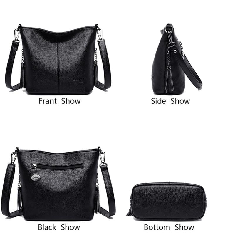 Image 4 - Small Crossbody Bags For Women Soft Leather Tassel Luxury Handbags Women Bags Designer Female Shoulder Messenger Bag Sac A MainShoulder Bags   -