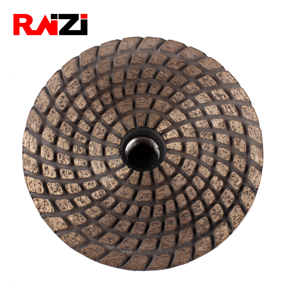 Raizi 4 Inch/100 Mm Metal Bond Sintered Diamond Grinding Disc For Granite Concrete With Adapter Abrasive Stone Grinding Wheel
