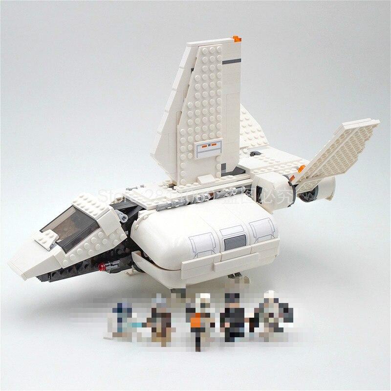 05147 Star Wars Imperial Landing Craft Shuttle Pilot Sandtrooper Building Kit Blocks 712pcs Bricks Compatible With 75221