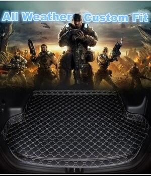 SJ Высокая сторона заказной подходит для всех погодных автомобилей багажник мат автозапчасти задняя грузовая лайнер покрытие ковровое покр...