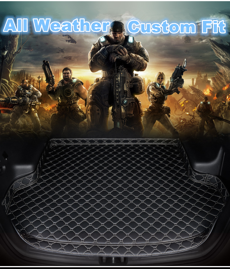 SJ High Side Custom Fit All Weather Car Trunk Mat AUTO Rear Cargo Liner Cover Carpet Pad For AUDI A3 Hatchback 2014 2015 16 2019|  - title=