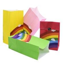 Sacs en papier 13x8x23.5 cm, Sachets d'emballage de bonbons, emballage de Biscuits, pour fête prénatale, anniversaire, festival, boîte-cadeau en papier
