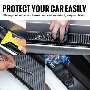 4 шт. Автомобильные Защитные наклейки на порог из углеродного волокна для Honda Mugen Civic Typer R S SI RR City Insight Vtec Fit CR-V Z Pilot