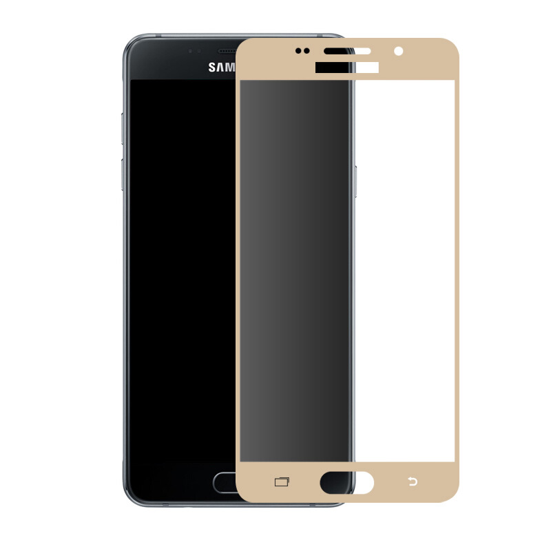 Image 4 - Curved Protective Glass on the For Samsung Galaxy A7 A3 A5 A6 A750 A8 2017 2018 J3 J5 J7 2016 Tempered Screen Protector Glass-in Phone Screen Protectors from Cellphones & Telecommunications