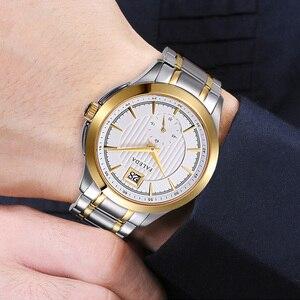 Image 5 - Relojes de negocios Retro para hombres, reloj de cuarzo de marca de lujo de zafiro, reloj impermeable de acero inoxidable informal para hombres, reloj Masculino