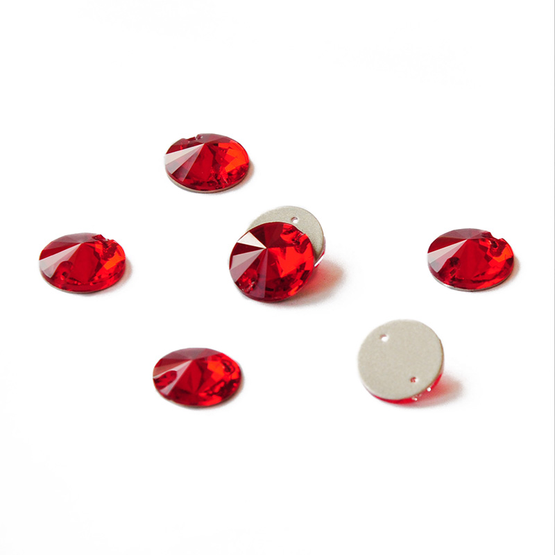 CTPA3bI Light Siam Sew On Glass Crystal Stones Flatback Rivoli Strass Red Super Rhinestones For Needlework Clothes Decoration-0