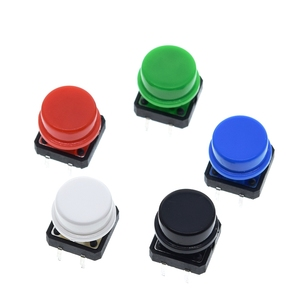 Image 2 - 25PCS Tactile Push Button Switch Momentary 12*12*7.3MM Micro switch button + 25PCS Tact Cap(5 colors) for Arduino Switch