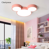 Macaron Mickey Ceiling Lamps Lustre Luminaria Ultra Thin Modern Led Ceiling Lamp Fixtures For Boy Girls Kids Bedroom Decoration