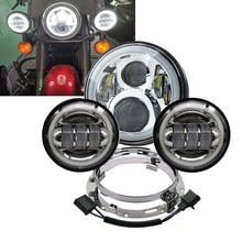 ¿De 7 pulgadas Faro Moto LED faros 4-1/2