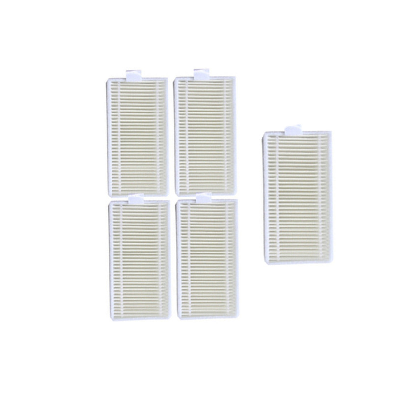 5 Pieces Robot HEPA Filter For QQ6 And IPlus S5 Linnberg Clobot MT-810 Robotic Vacuum Cleaner Parts Accessories