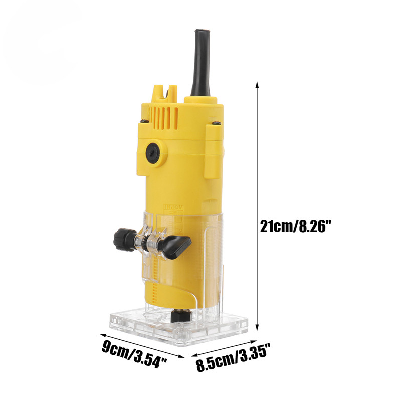 Tools : 1300W 6 35MM 30000rpm Electric Trimmer Wood Laminate Router 110V US  220V EU Woodworking Trimming Tools Carving Milling Machine