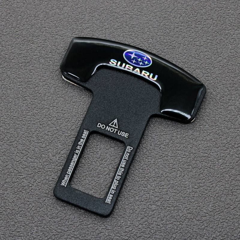 1PC Quality Zinc Alloy Car Seat Belt Clip Safety Belt Plug For Subaru Forester 2009 2014 2019 Outback Impreza Legacy Xv 2019 STI
