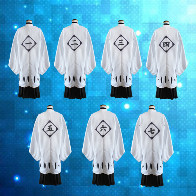 Anime Bleach Cosplay Costumes Captains White Cloak Cosplay Costume Halloween Carnival Party Game Cosplay Costume