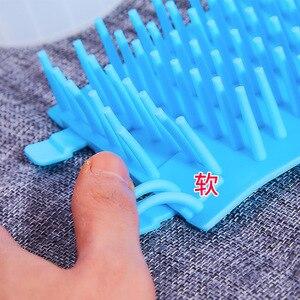 Приспособление для очистки лап для собак, силиконовая чашка для мытья ног питомца кота, ведро для мытья лап, мягкая щетка, расческа для очистки лап, средство для мытья ног питомца