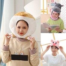 Cartoon Cute Girl Plush Hat Cap Piggy Hippo Corgi Butt Doll Headgear Costume Photo Prop Kawaii Funny Toy Kids Girls Birthday Gif