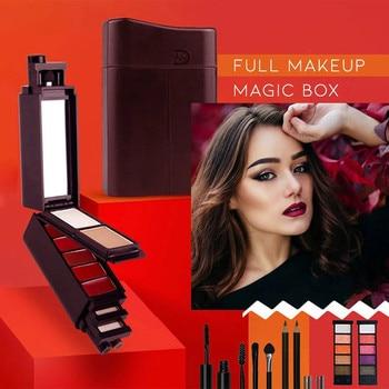 Mini juego de maquillaje 8 en 1 Magic Shadow Mascara pintalabios moda hermoso maquillaje Simple portátil Magic Box Set de maquillaje